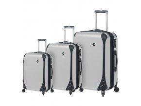 Sada cestovních kufrů MIA TORO M1021/3 - bílá  + PowerBanka nebo pouzdro zdarma