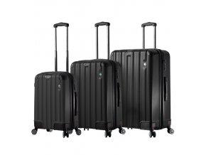 Sada cestovních kufrů MIA TORO M1300/3 - černá  + PowerBanka nebo pouzdro zdarma