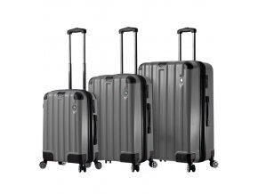 Sada cestovních kufrů MIA TORO M1300/3 - charcoal  + PowerBanka nebo pouzdro zdarma