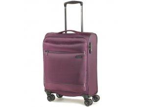 Kabinové zavazadlo ROCK TR-0161/3-S - fialová  + PowerBanka nebo pouzdro zdarma