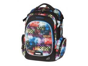 Studentský batoh WIZZARD Bricks  + Pouzdro zdarma