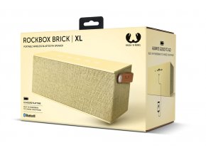 FRESH ´N REBEL Rockbox Brick XL Fabriq Edition Bluetooth reproduktor, Buttercup, světle žlutý  + PowerBanka nebo pouzdro zdarma