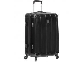 Cestovní kufr SIROCCO T-1162/3-M ABS/PC - černá  + PowerBanka nebo pouzdro zdarma