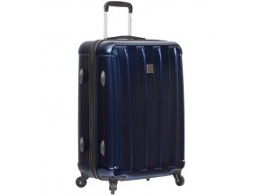 Cestovní kufr SIROCCO T-1162/3-M ABS/PC - modrá  + PowerBanka nebo pouzdro zdarma