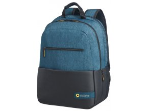 "American Tourister CITY DRIFT LAPTOP BACKPACK 15.6"" BLACK/BLUE"