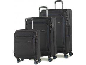 Sada cestovních kufrů ROCK TR-0162/3 - černá  + PowerBanka nebo pouzdro zdarma