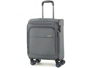 Kabinové zavazadlo ROCK TR-0162/3-S - šedá  + PowerBanka nebo pouzdro zdarma