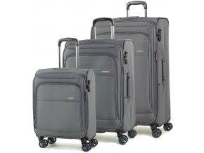 Sada cestovních kufrů ROCK TR-0162/3 - šedá  + PowerBanka nebo pouzdro zdarma