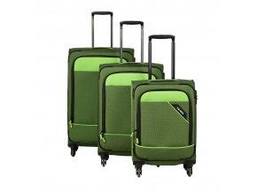Travelite Derby 4w S,M,L Green – sada 3 kufrů  + PowerBanka nebo pouzdro zdarma