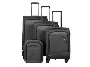 Travelite Derby 4w S,M,L Anthracite – sada 3 kufrů + Board Bag  + PowerBanka nebo pouzdro zdarma