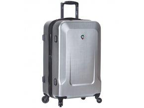 Cestovní kufr MIA TORO M1535/3-L - stříbrná  + PowerBanka nebo pouzdro zdarma