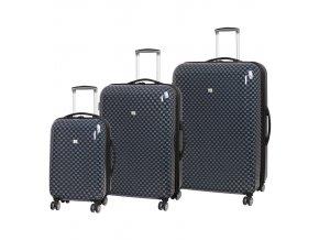 Sada cestovních kufrů MEMBER'S TR-0184/3 ABS - charcoal  + PowerBanka nebo pouzdro zdarma