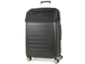 Cestovní kufr ROCK TR-0166/3-L ABS/PES - černá  + PowerBanka nebo pouzdro zdarma