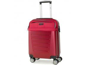 Kabinové zavazadlo ROCK TR-0166/3-S ABS/PES - červená  + PowerBanka nebo pouzdro zdarma