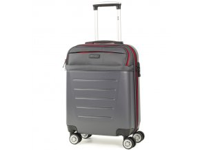 Kabinové zavazadlo ROCK TR-0166/3-S ABS/PES - charcoal  + PowerBanka nebo pouzdro zdarma