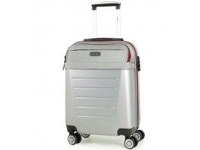 Kabinové zavazadlo ROCK TR-0166/3-S ABS/PES - stříbrná  + PowerBanka nebo pouzdro zdarma