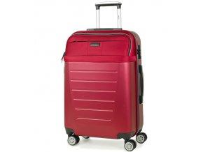 Cestovní kufr ROCK TR-0166/3-M ABS/PES - červená  + PowerBanka nebo pouzdro zdarma