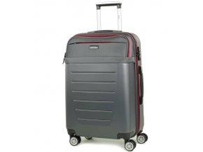 Cestovní kufr ROCK TR-0166/3-M ABS/PES - charcoal