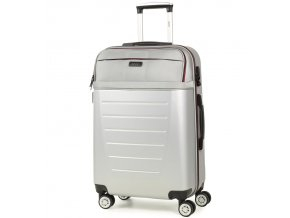 Cestovní kufr ROCK TR-0166/3-M ABS/PES - stříbrná  + PowerBanka nebo pouzdro zdarma