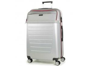 Cestovní kufr ROCK TR-0166/3-L ABS/PES - stříbrná  + PowerBanka nebo pouzdro zdarma