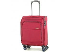 Kabinové zavazadlo ROCK TR-0162/3-S - červená  + PowerBanka nebo pouzdro zdarma