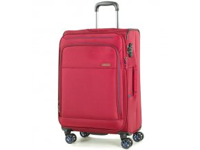 Cestovní kufr ROCK TR-0162/3-M - červená  + PowerBanka nebo pouzdro zdarma