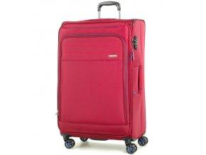 Cestovní kufr ROCK TR-0162/3-L - červená  + PowerBanka nebo pouzdro zdarma