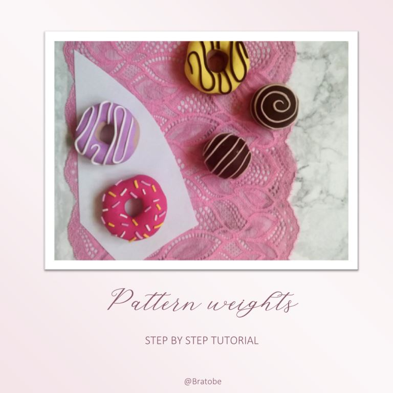 DIY: How to make donut and pralines pattern weights