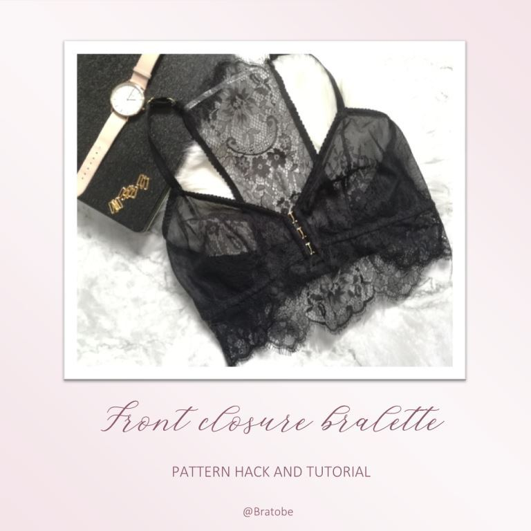 Hack: How to make a front closure bralette for larger cups