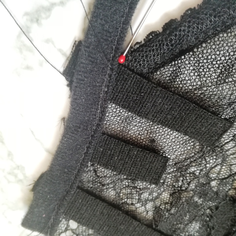 Front closure bralette step 4