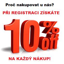 Při registraci získáte 10% sleva na každý nákup!