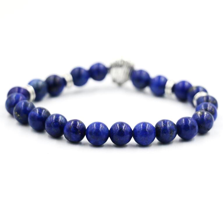AoSong-Natural-stone-lapis-lazuli-Buddha-Silver-Jewelry-Male-Female-Lion-head-chakra-Bracelets-Prayer-Beads_4