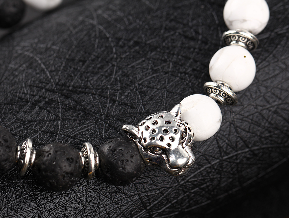 Natural-black-volcanic-rock-loose-circle-of-prayer-beads-hand-string-bracelet-jewelry-wholesale-leopard-head_24