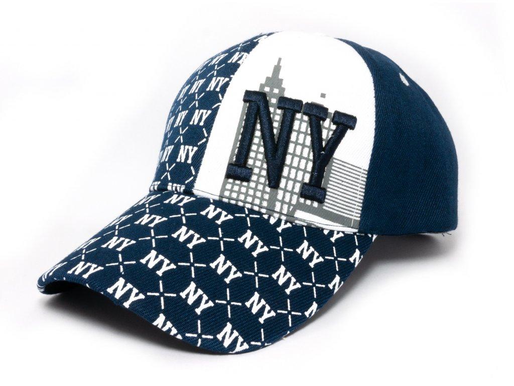 Kšiltovka NY tmavě modro-černá