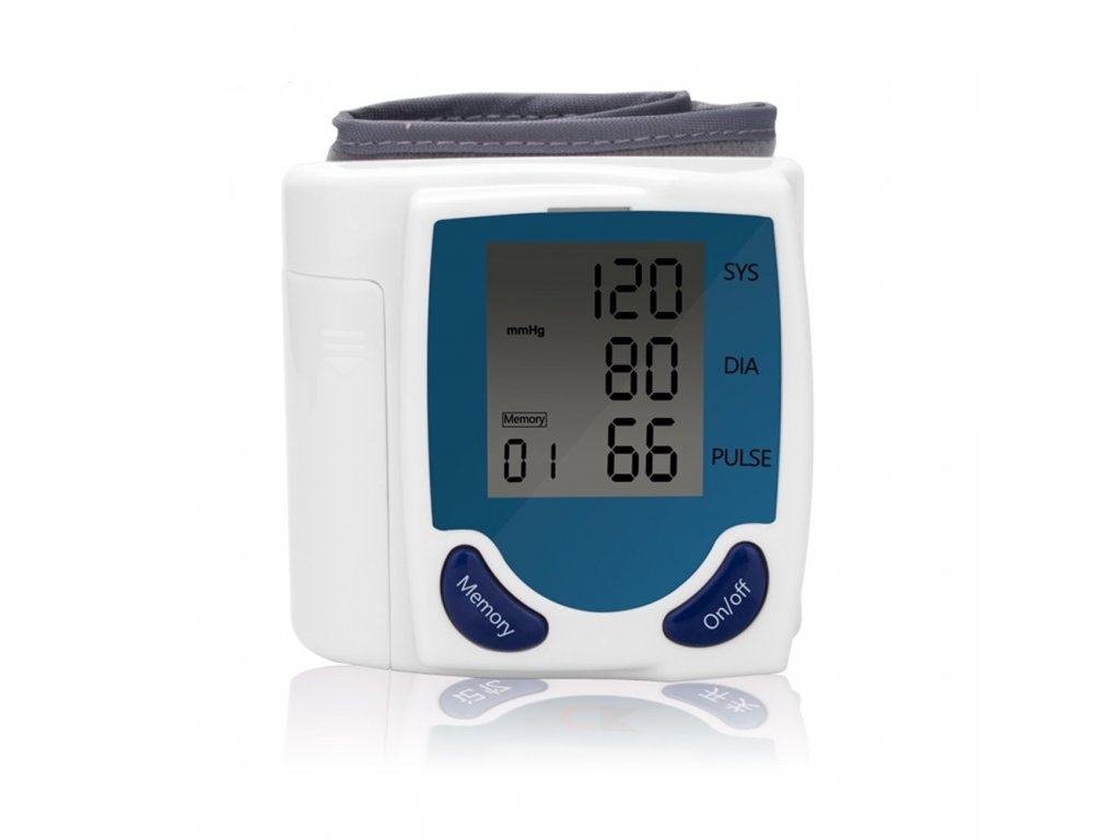 Wrist Electric Sphygmomanometer Blood Pressure Monitor Automatic Watch Heart Beat Measurement Machine Digital LCD Display MP0115 1