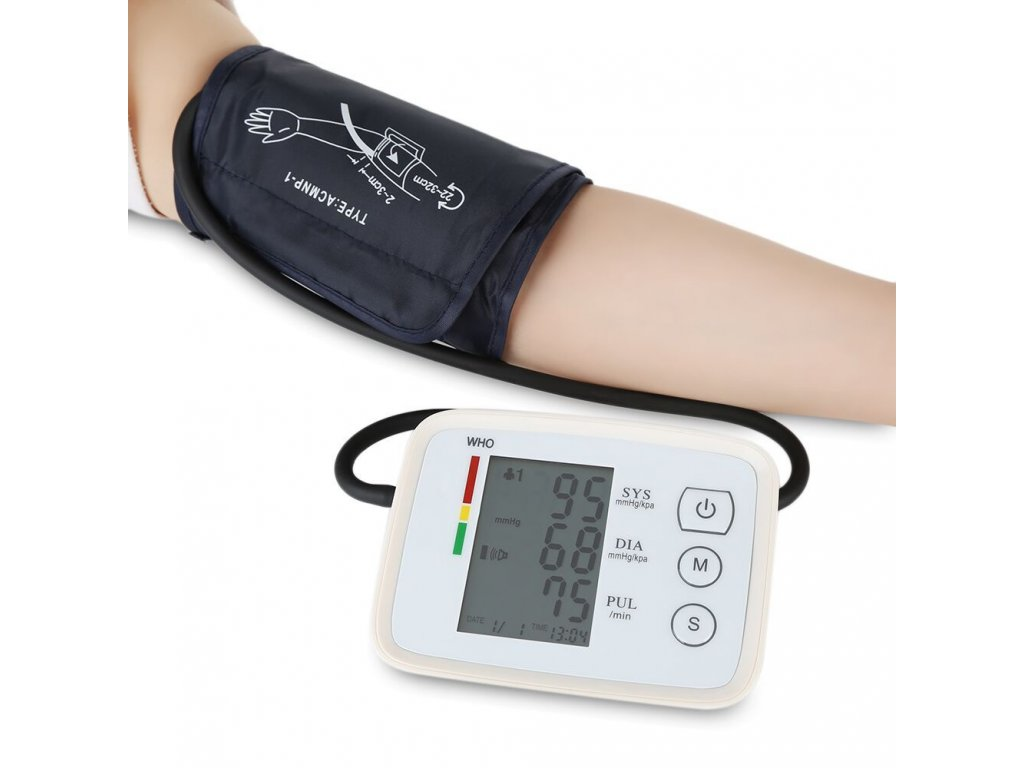 CK A155 Arm Blood Pressure Monitor Household Health Care Blood Pressure Meter Heart Beat Monitor 1