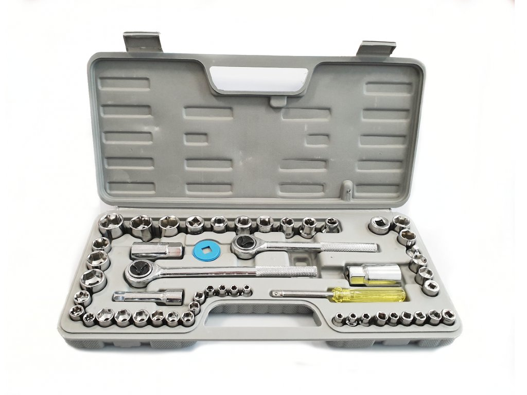Gola sada nástrčných klíčů s ráčnou v kufříku 40 ks