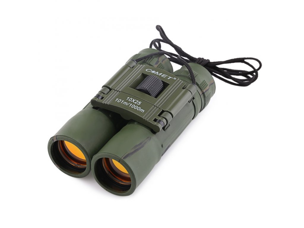Comet 10 x 25 Portable Binoculars Day and Light Telescope Long Range 101 1000m Professional Binocular