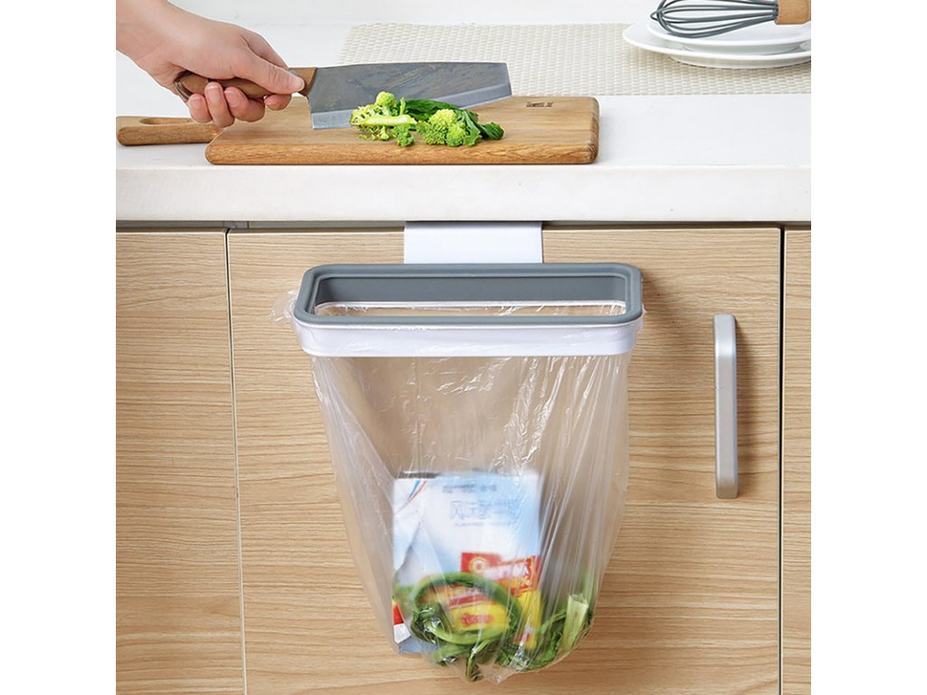 3 Kitchen Garbage Bag Storage Rack Attach Holder Cupboard Door Back Hanging Cabinet Trash Rack Food Container