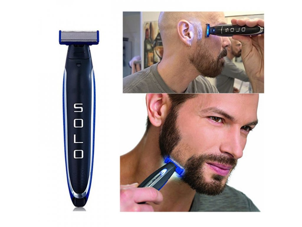 0 Micro Touch SOLO Electric Razor Men s Shaver Multi functional Rechargeable Hair Trimmer SOLO Grainer