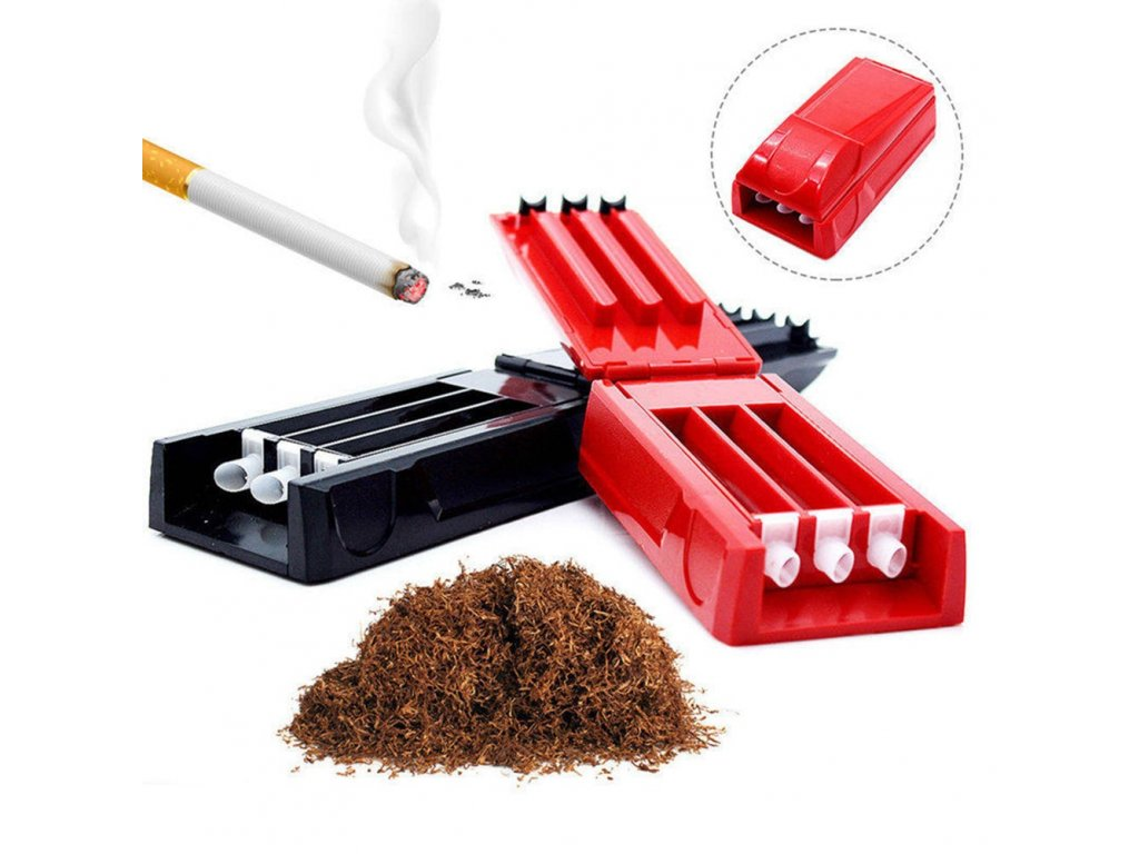 0 Manual Triple Cigarette Tube Injector Roller Maker Tobacco Rolling Machine Maker Smoking Weed Accessories