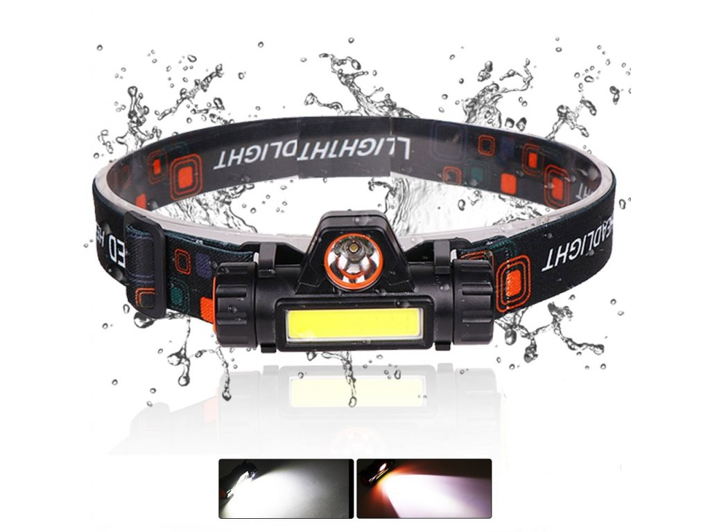 0 USB Rechargeable LED Headlamp XPE COB Work Light 2 Lighting Modes With Tail Magnet Detachable Headlight