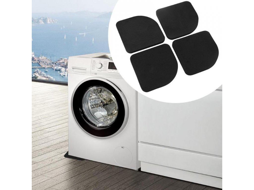 0 4pcs Washing Machine Anti Vibration Pad Shock Proof Non Slip Foot Feet Tailorable Mat Refrigerator Floor