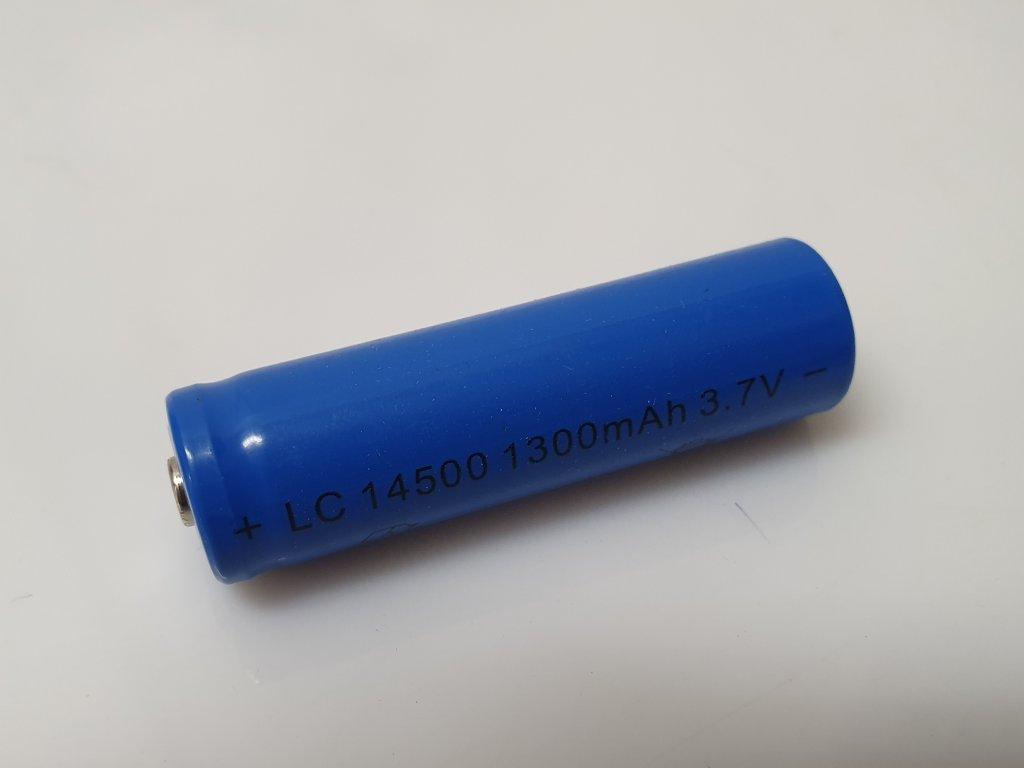 Dobíjecí baterie 14500 1300 mAh 3,7V