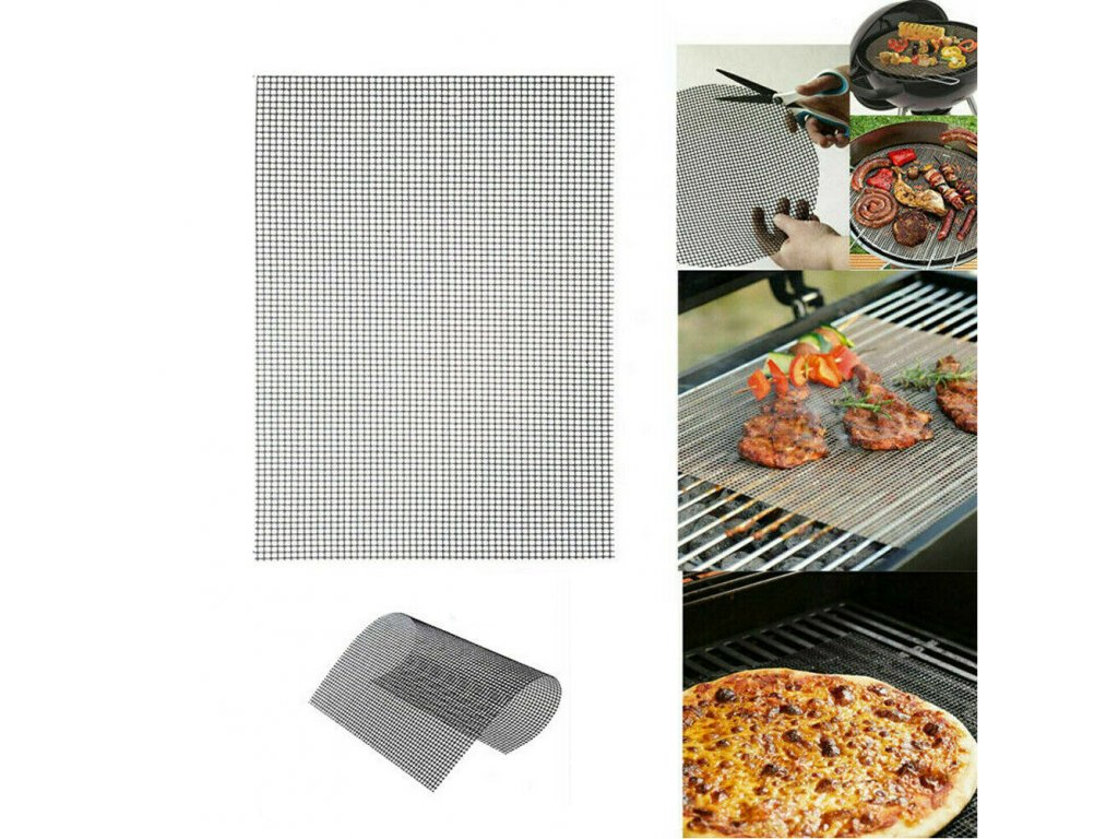 2019 MINTIML GRILL MAT BBQ Grill Mesh Mat Non Stick Teflon Cooking Reusable Teflon Sheet Resistant (1)