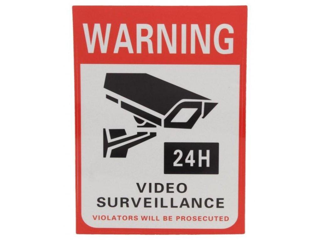 samolepka video surveillance