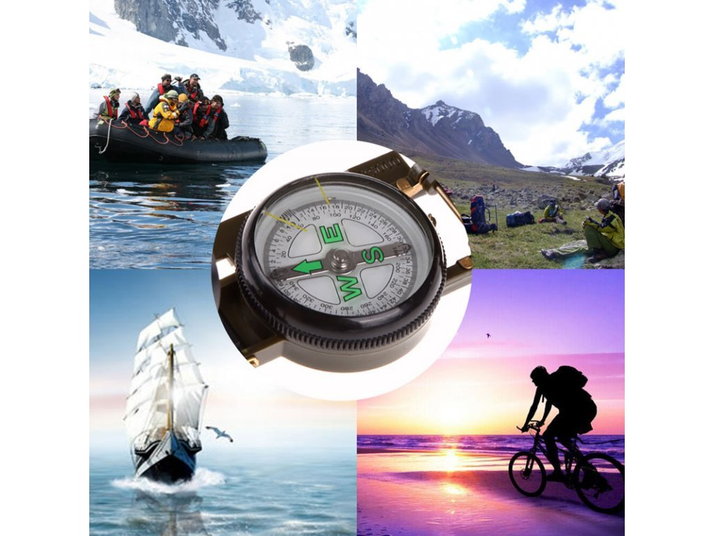 77787 professional mini boat compass bussola portable army green folding lens military compass for outdoor hiking camping 1