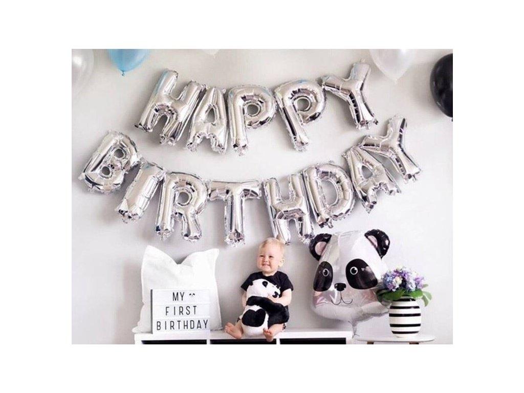 0029119 narozeninove balonky stribrne