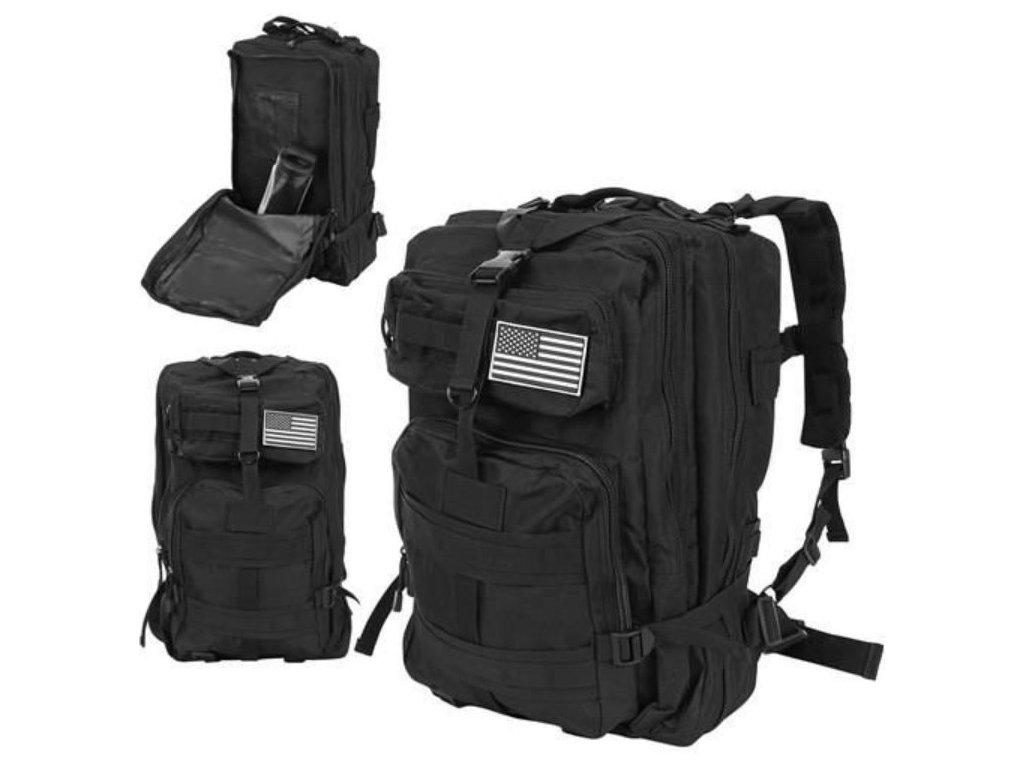 Vojenský batoh 38l černý