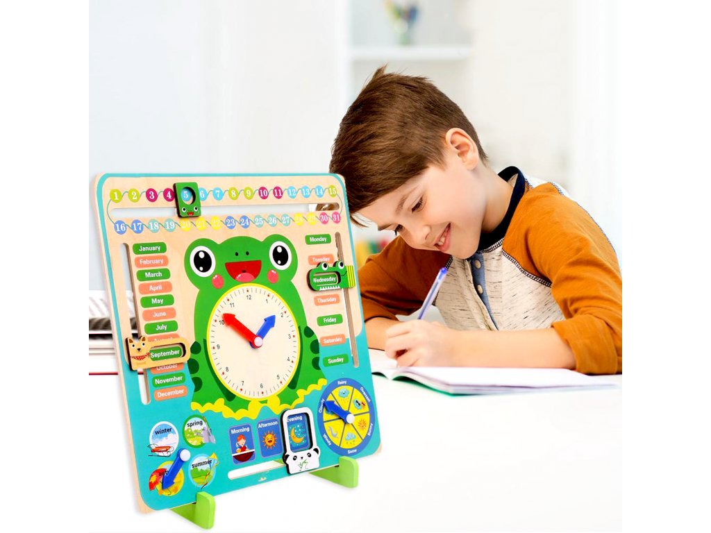 0043341 dreveny didakticky kalendar pro deti